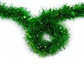 Green Tinsel Christmas Decoration