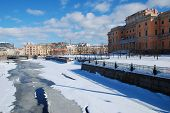 Russia. Saint-Petersburg. View of the Neva river.