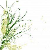 Grunge Floral Vector Background