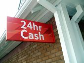Sign. 24Hr Cash Sign