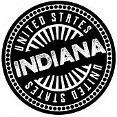 Indiana Typographic Stamp. Typographic Sign, Badge Or Logo poster