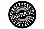 Kentucky Typographic Stamp. Typographic Sign, Badge Or Logo poster