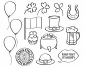 St Patricks Day Irish Icons Set. poster