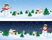 stock photo of winter scene  - Vector illustration  - JPG