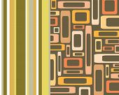 Retro Stripes And Rectangles Collage