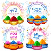 Illustration Of Advertisement Promotional Background For Festival Of Colors Celebration Greetings Wi poster