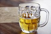 Refreshing Cold Beer In Glass Bock