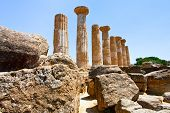 Dorian Columns Of Temple Of Heracles