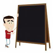 Cool Cartoon Young Teacher