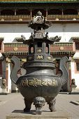 Buddhist urn in Mongolia