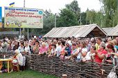 Veliki  Sorochintsi Village, Poltava Region, Ukraine - August 20: Crowd Of People Watching Perfomanc