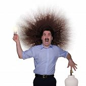 Long Haired Man electrocuted 1