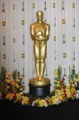 LOS ANGELES - MAR 7: Oscar standbeeld in de press room op de Oscars gehouden in het Kodak Theater in Los A