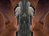 picture of peyote  - Vision in cavern - JPG