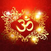 om symbol on beautiful artistic background