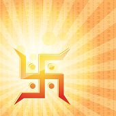 foto of swastik  - vector swastik symbol background - JPG