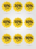 Special Offer Sale Yellow Tag Isolated Vector Illustration. Discount Offer Price Label, Symbol For A poster