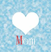 Love Mon With Red On Blue Cloud Background