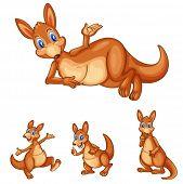 Illustraiton von gemischten Känguru Karikaturen