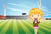 Tv reporter at a sports stadium - EPS VECTOR format also available in my portfolio.