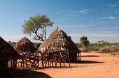 African tribal hut