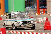 Leiria, Portugal - April 22: Gonçalo Figueiroa Drives A Bmw 2002 on Day Three Of Rally Verde Pino