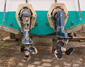 Two Rusty Propeller Screws