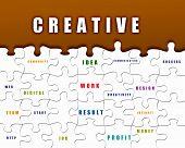 Puzzleteile mit Geschäftsbedingungen auf sie geschrieben