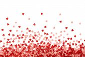Sugar Sprinkle Dots Hearts, Decoration For Cake And Bakery. Colorful Sugar Sprinkles Scattered On Wh poster