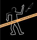 Body Crime Scene Do Not Cross Knife.