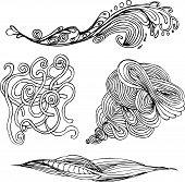 Hand drawn wavy
