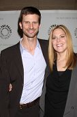 LOS ANGELES - APR 14:  Frederick Weller,  Mary McCormack arrive at 'In Plain Sight' at The Paley Cen