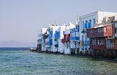 Little Venice On Mykonos Island, Greece.