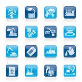 diferentes tipos de iconos de comercio e industria