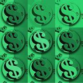 Dollar Globe Green