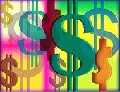 Dollar Rainbow Wallpaper