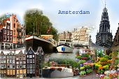 Amsterdam Collage Postcard