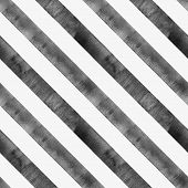 Watercolor Black Diagonal Stripes On White Background. Black And White Striped Seamless Pattern. Wat poster