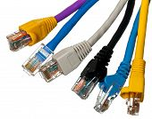 Cat 5 Cables In Multiple Colors