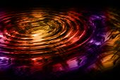 Wonderful illustrated magic wave background design in many colors