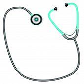 Stethoscope Against White