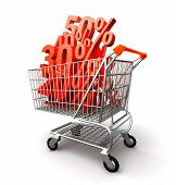 Shopping Cart Full Percentage Of Discount