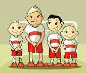 Four Soccer Player