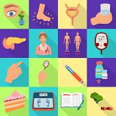 Isolated Object Of Symptom And Disease Sign. Set Of Symptom And Treatment Vector Icon For Stock. poster