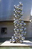 Sculpture eighty Balls Stainless Steel, Indian Artist Anish Kapoor