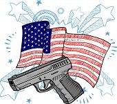 American gun illustration