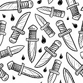 Seamless knife pattern