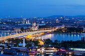 Vienna, Aerial View At Night