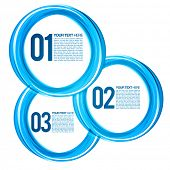 Blue Next Steps Circles Design Layout | EPS10 Vector Background