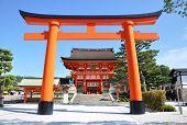 KYOTO- OCT 21: Wooden Torii Gates At Fushimi Inari Shrine, Kyoto